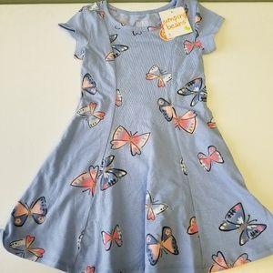 NWT Jumping Beans Butterflies Purple Sz 5 Dress K2